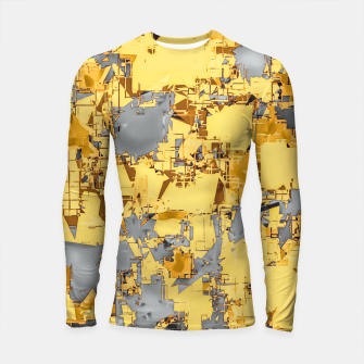 Miniaturka geometric painting texture abstract in yellow and brown Longsleeve rashguard , Live Heroes