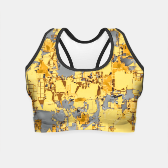 Miniaturka geometric painting texture abstract in yellow and brown Crop Top, Live Heroes