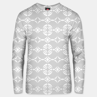 Miniatur Abstract pattern - gray and white. Unisex sweater, Live Heroes