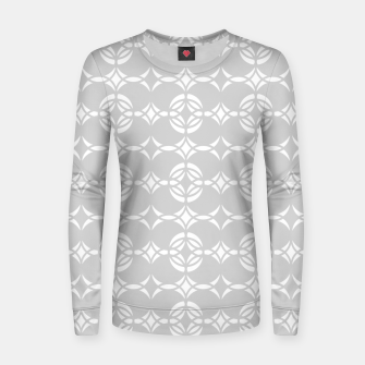 Miniaturka Abstract pattern - gray and white. Women sweater, Live Heroes