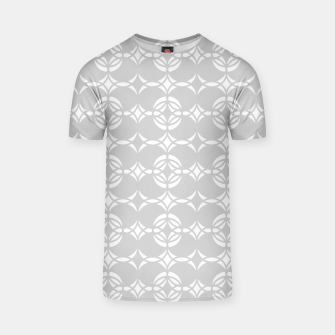 Miniatur Abstract pattern - gray and white. T-shirt, Live Heroes