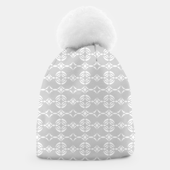 Miniatur Abstract pattern - gray and white. Beanie, Live Heroes