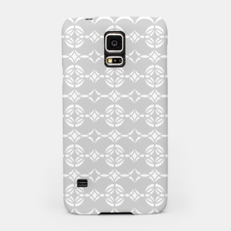 Miniatur Abstract pattern - gray and white. Samsung Case, Live Heroes