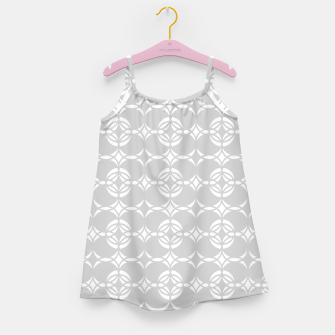 Miniatur Abstract pattern - gray and white. Girl's dress, Live Heroes