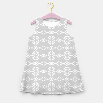 Miniatur Abstract pattern - gray and white. Girl's summer dress, Live Heroes