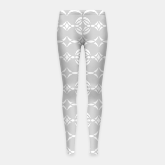 Miniatur Abstract pattern - gray and white. Girl's leggings, Live Heroes