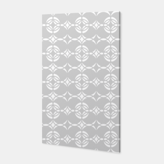 Miniatur Abstract pattern - gray and white. Canvas, Live Heroes