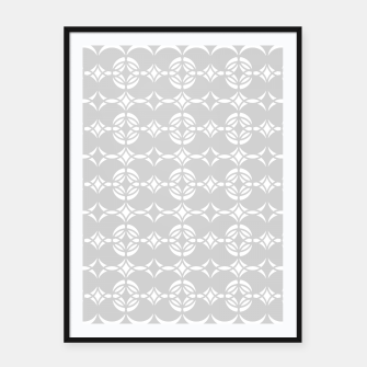 Miniatur Abstract pattern - gray and white. Framed poster, Live Heroes