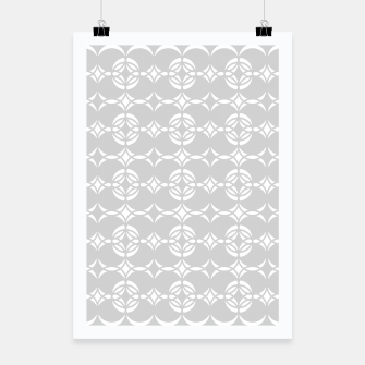 Miniaturka Abstract pattern - gray and white. Poster, Live Heroes