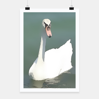 Miniaturka swan at lake balaton Poster, Live Heroes