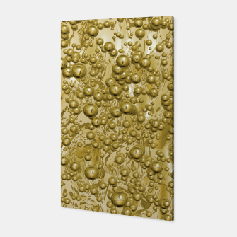Miniatur Golden Bubbles Pattern Canvas, Live Heroes