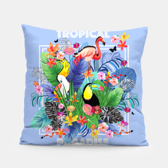 Thumbnail image of Tropical Jungle Pillow, Live Heroes