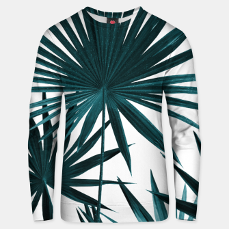 Miniatur Fan Palm Leaves Jungle #1 #tropical #decor #art Unisex sweatshirt, Live Heroes