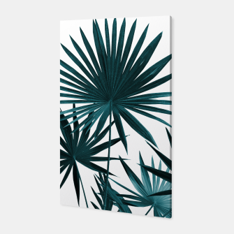 Miniatur Fan Palm Leaves Jungle #1 #tropical #decor #art Canvas, Live Heroes