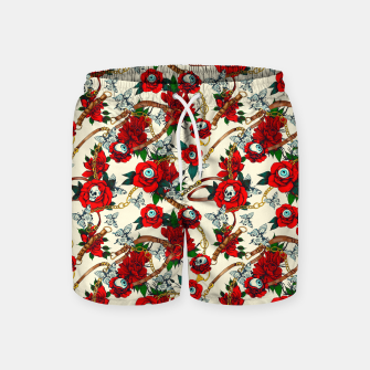 Thumbnail image of Flowery eyes on straps and chains Pantalones de baño, Live Heroes