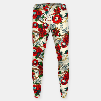Thumbnail image of Flowery eyes on straps and chains Pantalones de chándal , Live Heroes