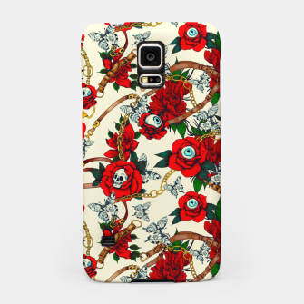 Thumbnail image of Flowery eyes on straps and chains Carcasa por Samsung, Live Heroes