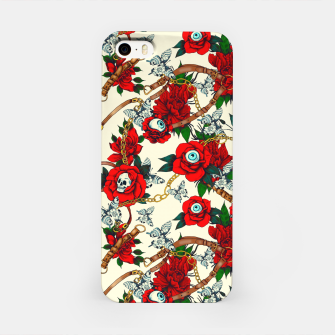 Thumbnail image of Flowery eyes on straps and chains Carcasa por Iphone, Live Heroes