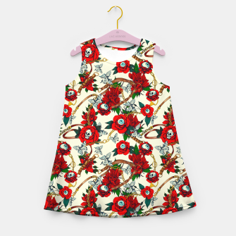 Thumbnail image of Flowery eyes on straps and chains Vestido de verano para niñas, Live Heroes