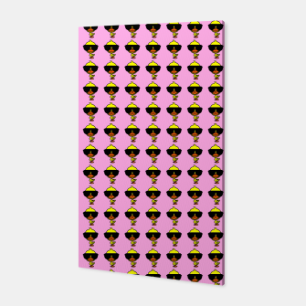 Miniatur Cool Duck Pattern Pink Canvas, Live Heroes