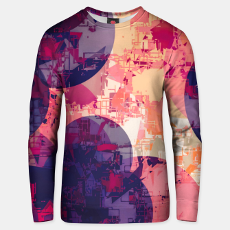 Miniatur geometry circle pattern abstract in red and purple Unisex sweater, Live Heroes