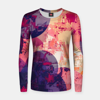 Miniature de image de geometry circle pattern abstract in red and purple Women sweater, Live Heroes