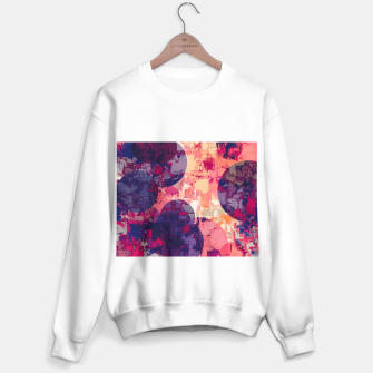 Miniature de image de geometry circle pattern abstract in red and purple Sweater regular, Live Heroes