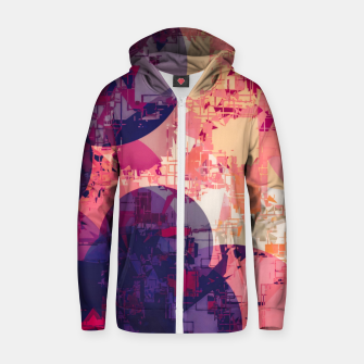 Miniature de image de geometry circle pattern abstract in red and purple Zip up hoodie, Live Heroes