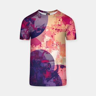 Miniature de image de geometry circle pattern abstract in red and purple T-shirt, Live Heroes