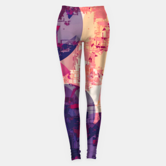 Miniature de image de geometry circle pattern abstract in red and purple Leggings, Live Heroes