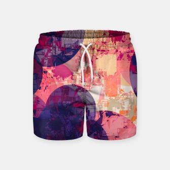 Miniature de image de geometry circle pattern abstract in red and purple Swim Shorts, Live Heroes