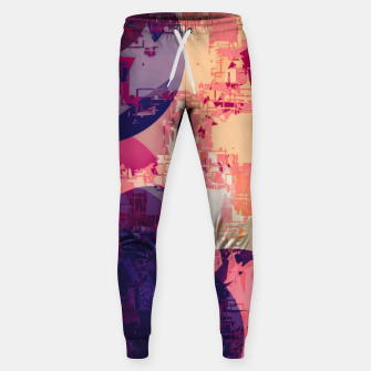 Miniature de image de geometry circle pattern abstract in red and purple Sweatpants, Live Heroes