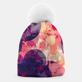 Miniature de image de geometry circle pattern abstract in red and purple Beanie, Live Heroes