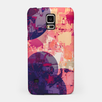 Miniature de image de geometry circle pattern abstract in red and purple Samsung Case, Live Heroes