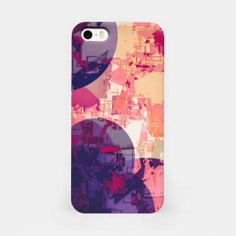 Miniature de image de geometry circle pattern abstract in red and purple iPhone Case, Live Heroes