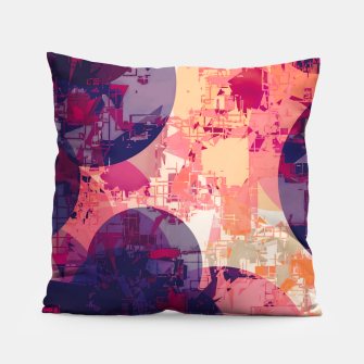 Miniature de image de geometry circle pattern abstract in red and purple Pillow, Live Heroes