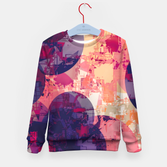 Miniatur geometry circle pattern abstract in red and purple Kid's sweater, Live Heroes