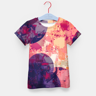 Miniatur geometry circle pattern abstract in red and purple Kid's t-shirt, Live Heroes