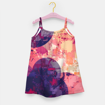 Miniature de image de geometry circle pattern abstract in red and purple Girl's dress, Live Heroes