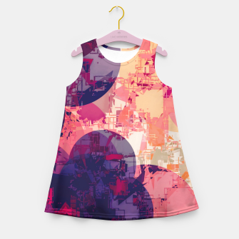 Miniature de image de geometry circle pattern abstract in red and purple Girl's summer dress, Live Heroes