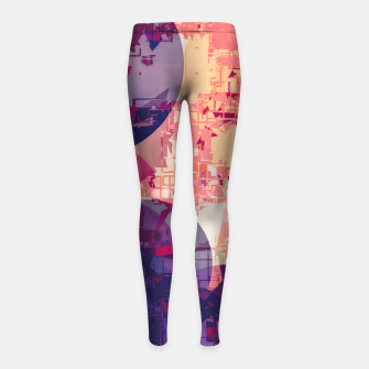 Miniature de image de geometry circle pattern abstract in red and purple Girl's leggings, Live Heroes