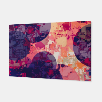 Miniatur geometry circle pattern abstract in red and purple Canvas, Live Heroes