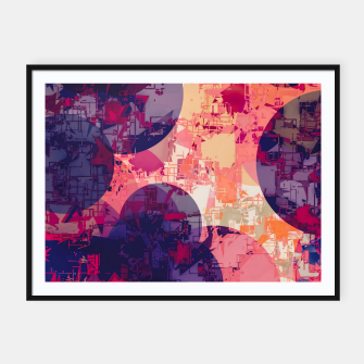 Miniature de image de geometry circle pattern abstract in red and purple Framed poster, Live Heroes