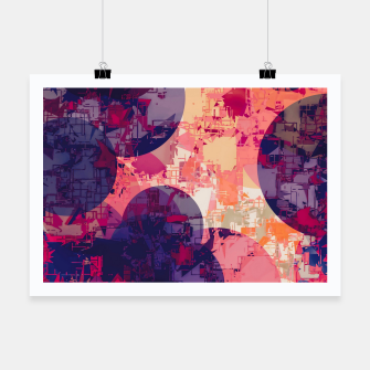 Miniature de image de geometry circle pattern abstract in red and purple Poster, Live Heroes