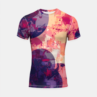 Miniature de image de geometry circle pattern abstract in red and purple Shortsleeve rashguard, Live Heroes