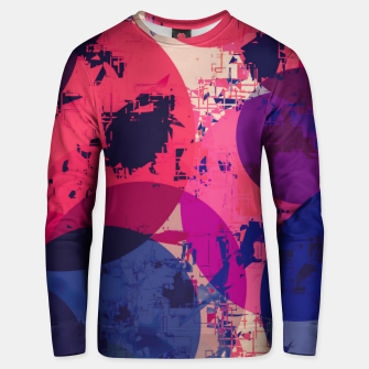 Miniatur geometric circle pattern abstract in red and blue Unisex sweater, Live Heroes