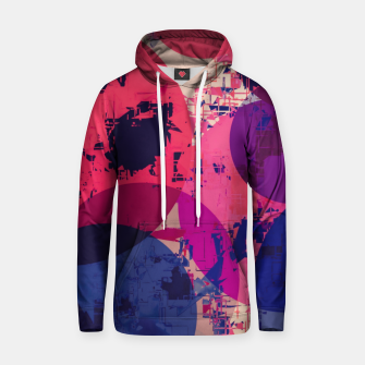 Miniatur geometric circle pattern abstract in red and blue Hoodie, Live Heroes