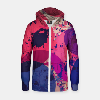 Miniature de image de geometric circle pattern abstract in red and blue Zip up hoodie, Live Heroes