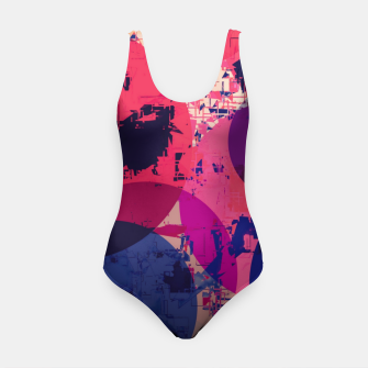 Miniature de image de geometric circle pattern abstract in red and blue Swimsuit, Live Heroes