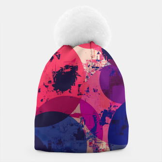 Miniaturka geometric circle pattern abstract in red and blue Beanie, Live Heroes